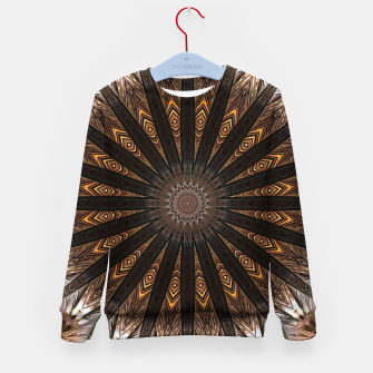 Miniatur Feather mandala Kid's sweater, Live Heroes