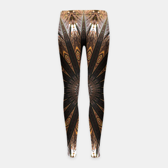 Thumbnail image of Feather mandala Girl's leggings, Live Heroes