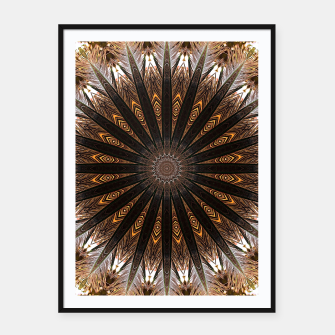 Miniatur Feather mandala Framed poster, Live Heroes