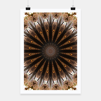 Thumbnail image of Feather mandala Poster, Live Heroes