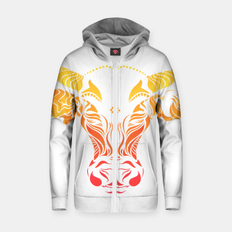 Thumbnail image of Angry cattle in the wind by #Bizzartino Zip up hoodie, Live Heroes