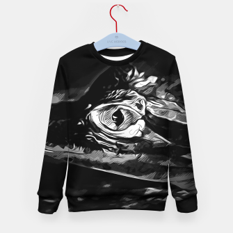 Thumbnail image of alligator baby eye vabw Kid's sweater, Live Heroes