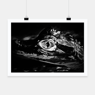 Thumbnail image of alligator baby eye vabw Poster, Live Heroes