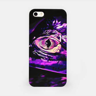 Thumbnail image of alligator baby eye vals iPhone Case, Live Heroes