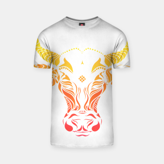 Thumbnail image of Angry cattle in the wind by #Bizzartino T-shirt, Live Heroes