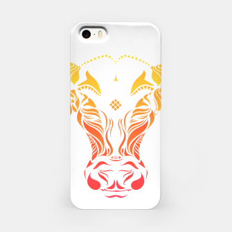 Thumbnail image of Angry cattle in the wind by #Bizzartino iPhone Case, Live Heroes