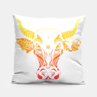 Thumbnail image of Angry cattle in the wind by #Bizzartino Pillow, Live Heroes