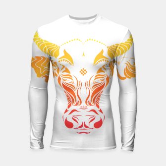 Thumbnail image of Angry cattle in the wind by #Bizzartino Longsleeve rashguard , Live Heroes