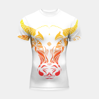 Thumbnail image of Angry cattle in the wind by #Bizzartino Shortsleeve rashguard, Live Heroes
