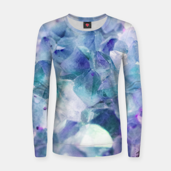 Thumbnail image of Iridescent Quartz Crystal #1 #gem #decor #art  Frauen sweatshirt, Live Heroes