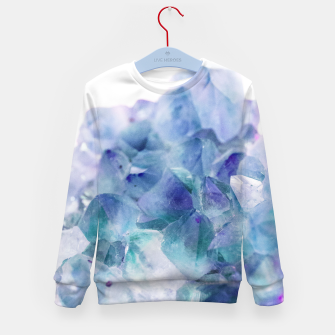 Thumbnail image of Iridescent Quartz Crystal #1 #gem #decor #art  Kindersweatshirt, Live Heroes