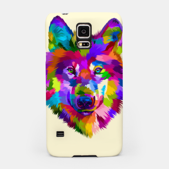 Thumbnail image of Colorful Wolf Head Samsung Case, Live Heroes