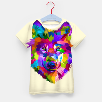 Thumbnail image of Colorful Wolf Head Kid's t-shirt, Live Heroes