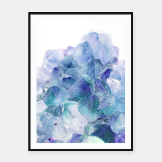 Thumbnail image of Iridescent Quartz Crystal #1 #gem #decor #art  Plakat mit rahmen, Live Heroes