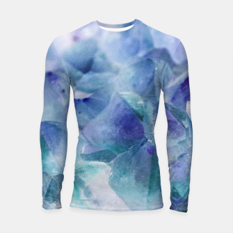 Thumbnail image of Iridescent Quartz Crystal #1 #gem #decor #art  Longsleeve rashguard, Live Heroes
