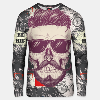 Thumbnail image of Hipster Skull Unisex sweater, Live Heroes