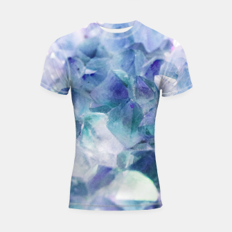 Thumbnail image of Iridescent Quartz Crystal #1 #gem #decor #art  Shortsleeve rashguard, Live Heroes