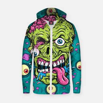 Thumbnail image of Creative Zombie Zip up hoodie, Live Heroes