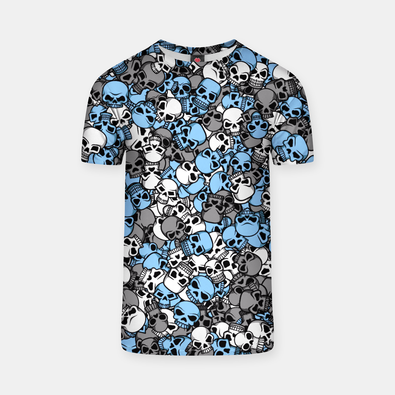 Image of Blue skulls camouflage T-shirt - Live Heroes