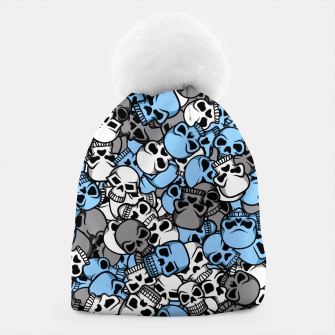 Thumbnail image of Blue skulls camouflage Beanie, Live Heroes