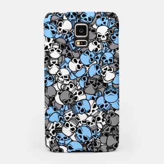 Thumbnail image of Blue skulls camouflage Samsung Case, Live Heroes