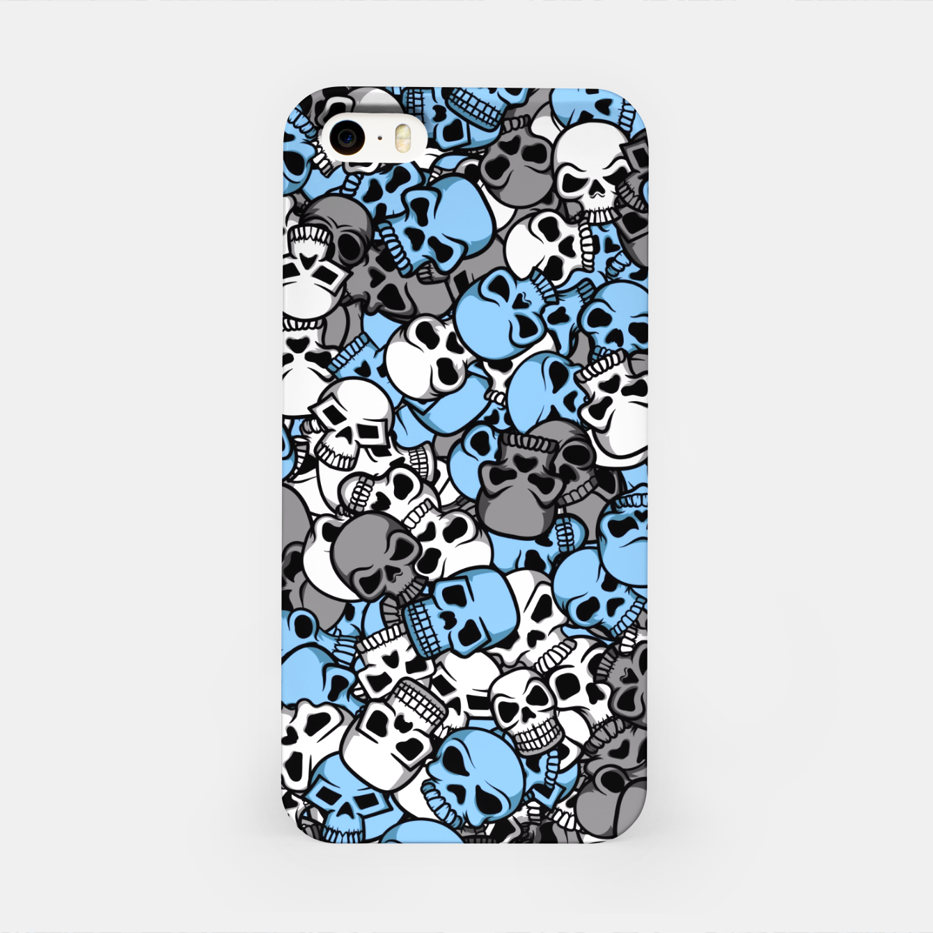 Image of Blue skulls camouflage iPhone Case - Live Heroes