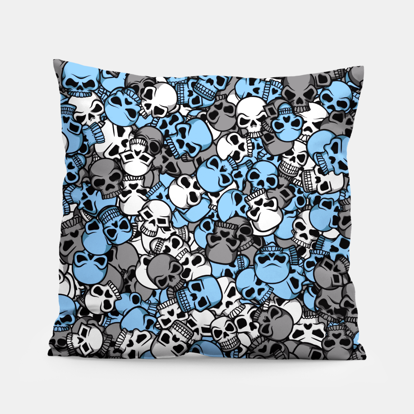 Image of Blue skulls camouflage Pillow - Live Heroes