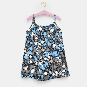 Thumbnail image of Blue skulls camouflage Girl's dress, Live Heroes