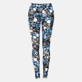 Thumbnail image of Blue skulls camouflage Leggings, Live Heroes