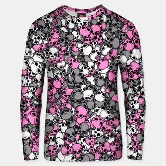 Thumbnail image of Pink skulls camouflage Unisex sweater, Live Heroes