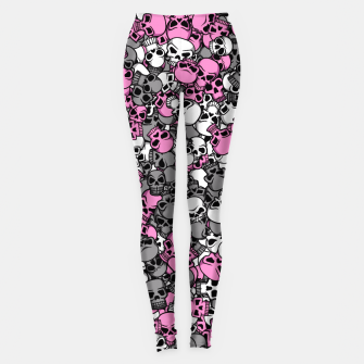 Thumbnail image of Pink skulls camouflage Leggings, Live Heroes