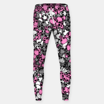 Thumbnail image of Pink skulls camouflage Sweatpants, Live Heroes