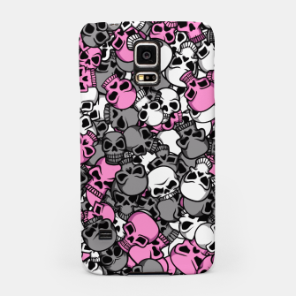 Thumbnail image of Pink skulls camouflage Samsung Case, Live Heroes