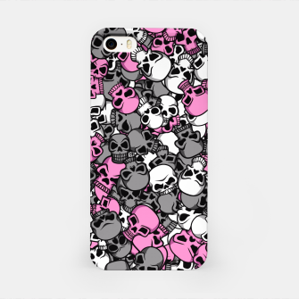 Pink skulls camouflage iPhone Case miniature