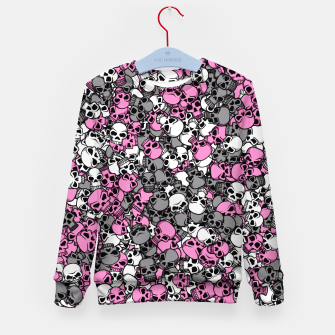 Pink skulls camouflage Kid's sweater miniature