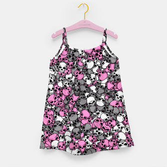 Thumbnail image of Pink skulls camouflage Girl's dress, Live Heroes
