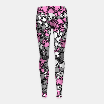 Pink skulls camouflage Girl's leggings miniature