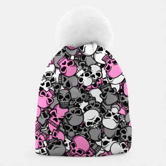 Thumbnail image of Pink skulls camouflage Beanie, Live Heroes