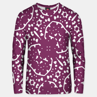 Thumbnail image of Magenta and White Abstract Print Pattern Unisex sweater, Live Heroes