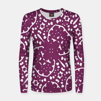 Thumbnail image of Magenta and White Abstract Print Pattern Women sweater, Live Heroes