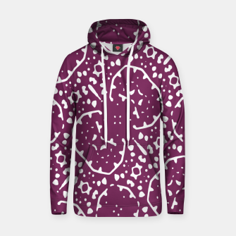 Thumbnail image of Magenta and White Abstract Print Pattern Hoodie, Live Heroes
