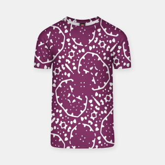 Thumbnail image of Magenta and White Abstract Print Pattern T-shirt, Live Heroes