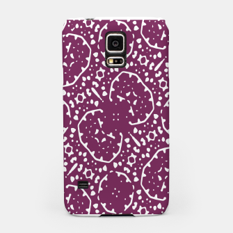 Thumbnail image of Magenta and White Abstract Print Pattern Samsung Case, Live Heroes