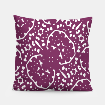 Thumbnail image of Magenta and White Abstract Print Pattern Pillow, Live Heroes