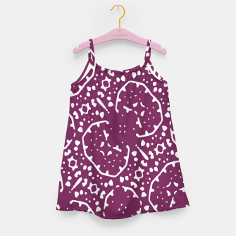 Thumbnail image of Magenta and White Abstract Print Pattern Girl's dress, Live Heroes