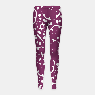 Thumbnail image of Magenta and White Abstract Print Pattern Girl's leggings, Live Heroes
