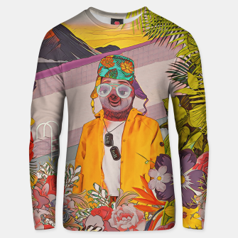 Thumbnail image of Sloth & the pool Unisex sweater, Live Heroes