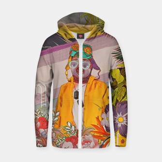 Sloth & the pool Zip up hoodie Bild der Miniatur