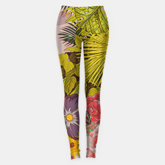 Sloth & the pool Leggings Bild der Miniatur