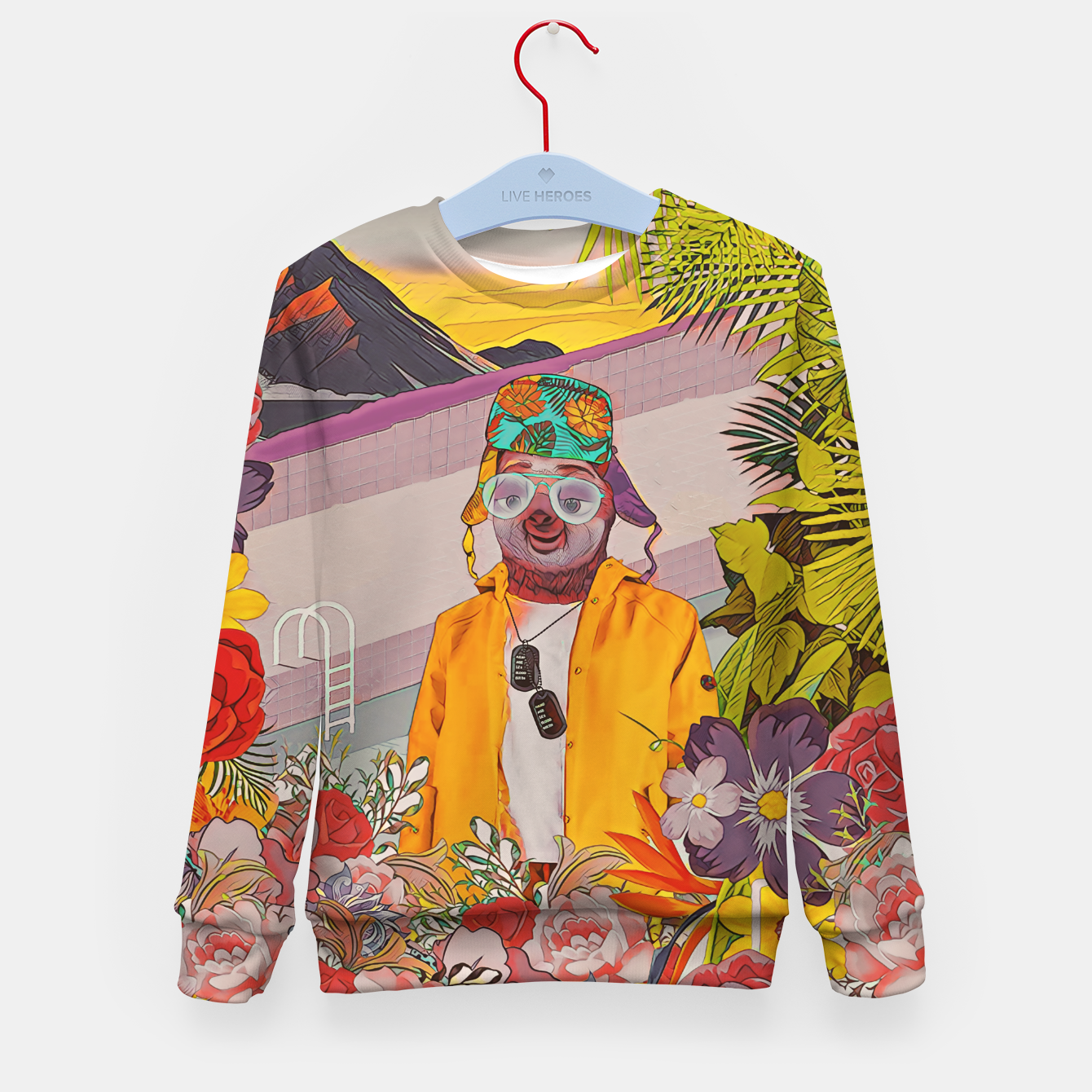 Image of Sloth & the pool Kid's sweater - Live Heroes